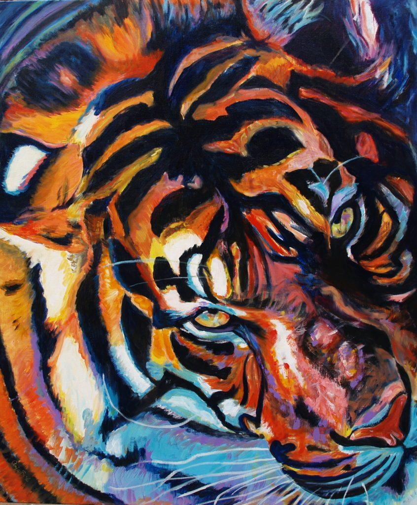 Tegenwoordig leven er nog zes verschillende tijgers : Siberische tijger Noord-Indochinese tijger, Chinese tijger, Sumatraanse tijger, Bengaalse tijger, Maleise tijger. Tijger-100-x-120-cm